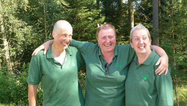 Forestry Commission trio shave heads for cancer charities