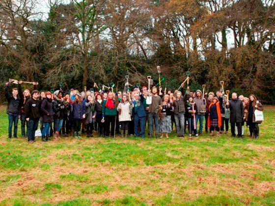 Arts University Bournemouth plants trees for new students