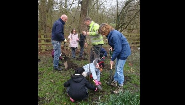 Pupils take their studies outside to take part in tree-planting project