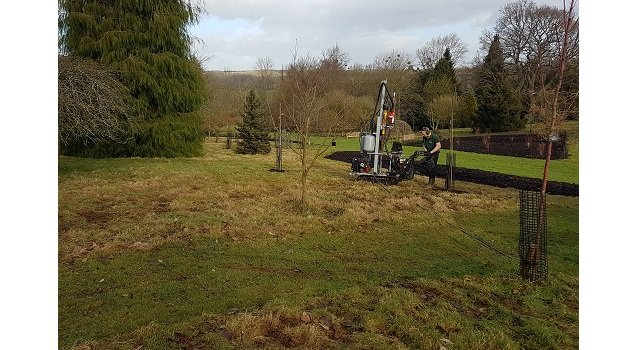 Trees being planted to create 'Valley of Fire' in new Sir Harold Hillier Gardens project