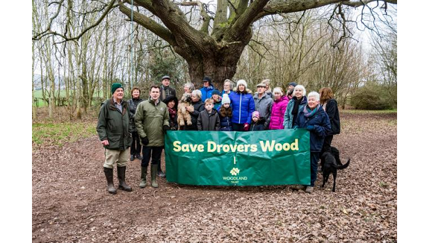Herefordshire Council propose two proposed bypass routes cutting through Drovers Wood near Hereford
