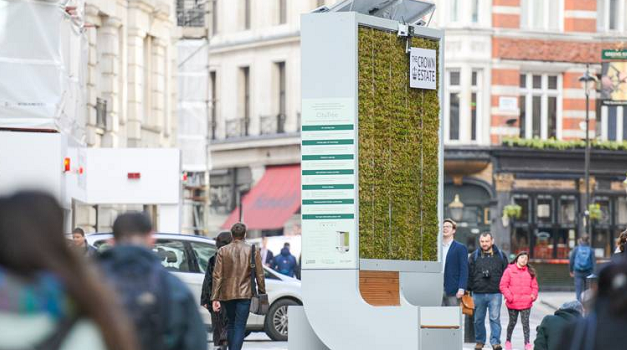 CityTree's 'moss filter' absorbs as much pollution as 275 trees