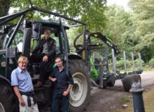 Babworth Estate Dominic on Valtra Forestry tractor