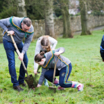 Lord Mayor joins local school in Belfast in planting 400 trees in Falls Park